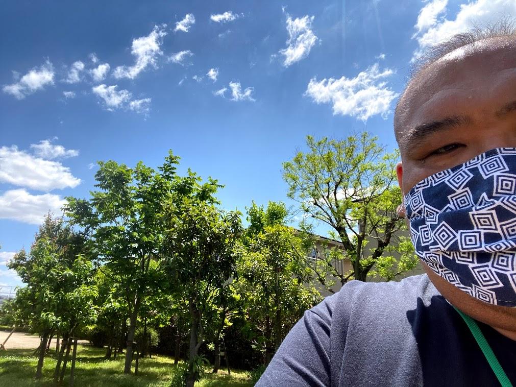 マスクが暑い・・・。